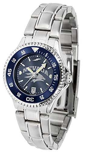 Nevada Wolf Pack Competitor Steel AnoChrome Women's Watch - Color Bezel