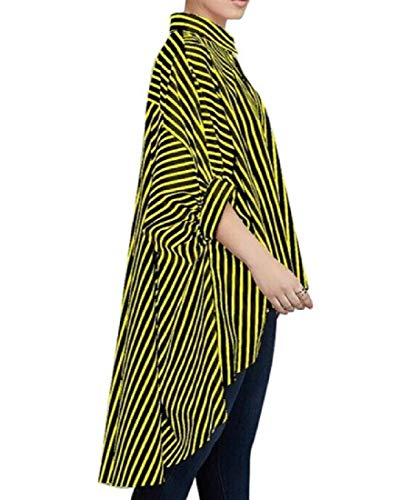 Sleeve Low Leisure Casual Women Coolred Size Yellow Plus Dress Half Strip High Z0wUxgq