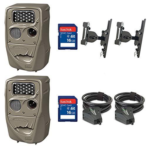 Cuddeback Trail Camera (2pk) + 16GB SD Card (2pk) + Mount (2pk) + Cable (2pk) Cuddeback Digital Scouting Camera