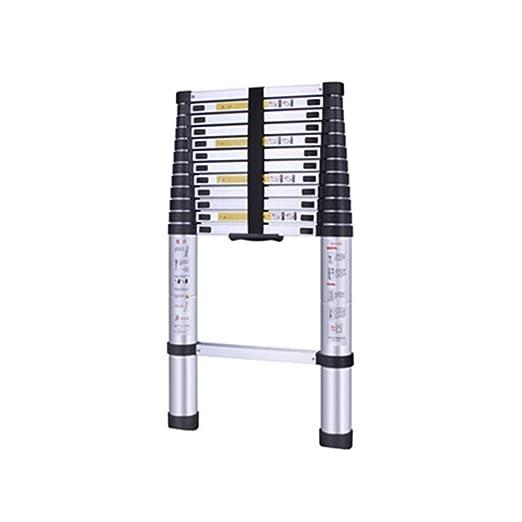 XC Multifuncional Escaleras telescópicas- Escalera De Bambú,Aleación De Aluminio Engrosamiento, Al Aire Libre Casero Telescópica Escalera, Multiusos, Sólido, Simple (tamaño : 2.6m): Amazon.es: Bricolaje y herramientas