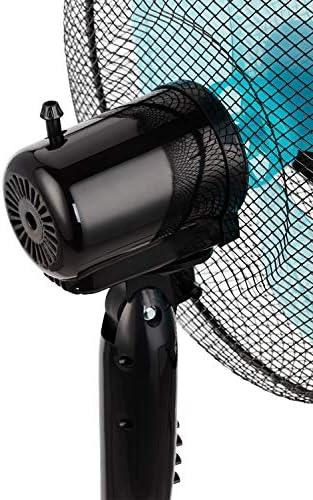 3 Vitesses De Ventilation Lot De 3 Ventilateurs Sur Pied Tr/ès Silencieux Hauteur Ajustable Coloris Blanc Oscillant