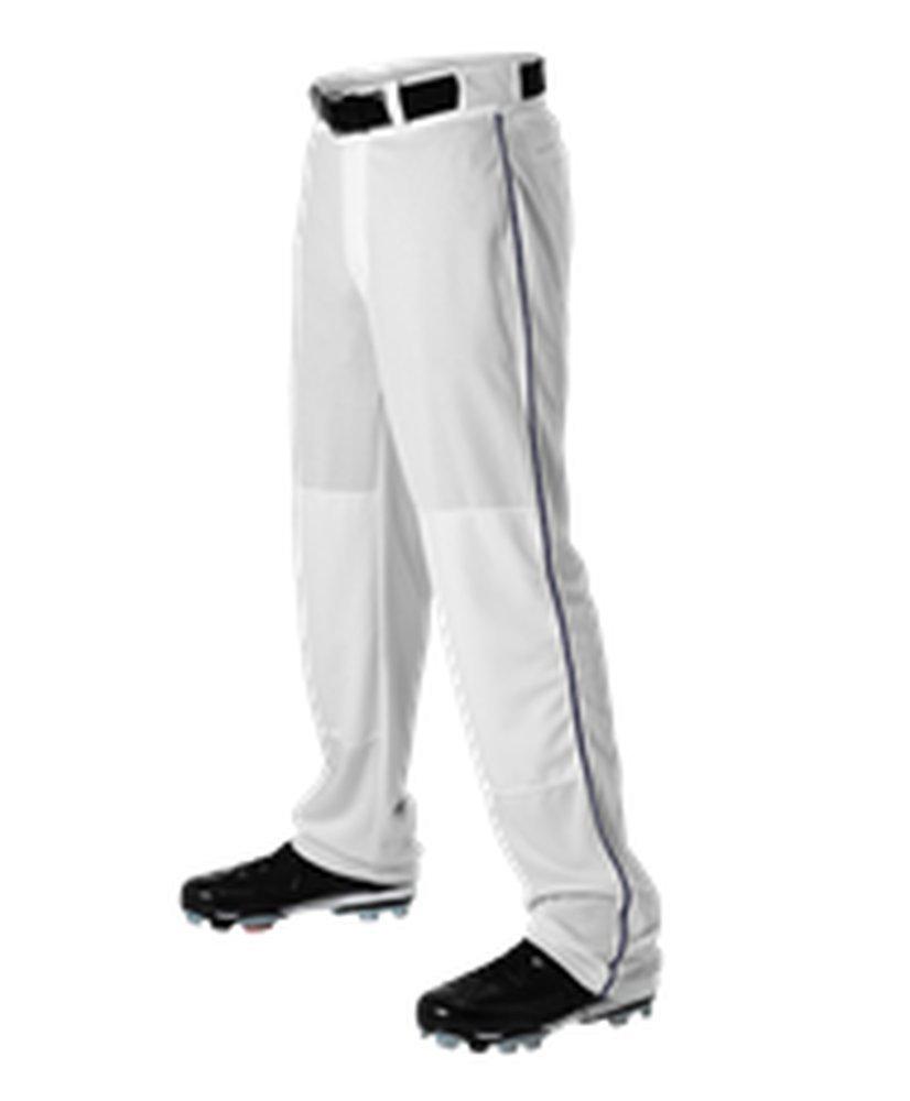 Alleson Athletic PANTS メンズ B071KF7JMR Medium|White, Navy White, Navy Medium