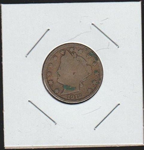 "1912 D Liberty Head or ""V"" Nickel Very Good"