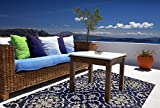Brown Jordan Prime Label Patio Furniture Rug 5x7 Neptune Collection Sisal Modern Navy Outdoor Rugs, Blue, Standard