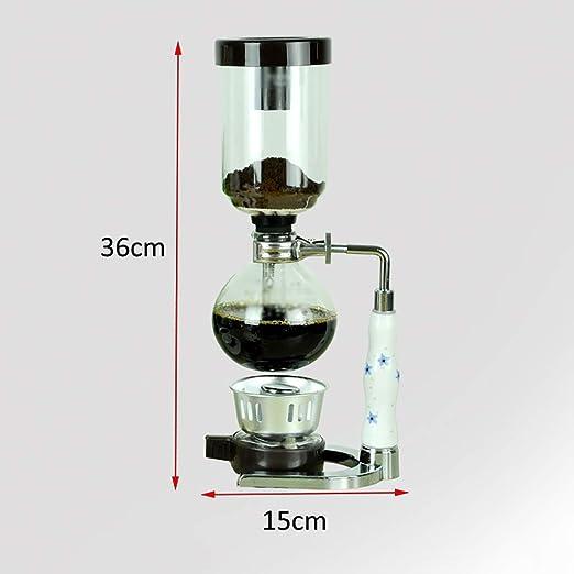 Cafetera fabricante portátil manual de café sifón, sifón cafetera ...