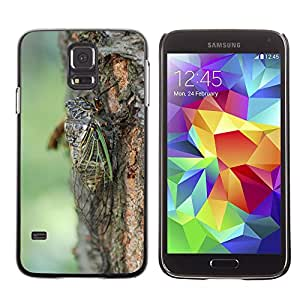 GoGoMobile Slim Protector Hard Shell Cover Case // M00118878 Cicada Summer One Animal High Summer // Samsung Galaxy S5 S V SV i9600 (Not Fits S5 ACTIVE)