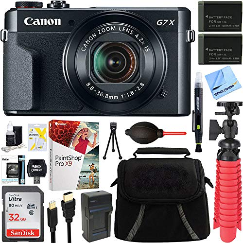 Canon PowerShot G7 X Mark II 20.1MP Digital Camera + Spare B