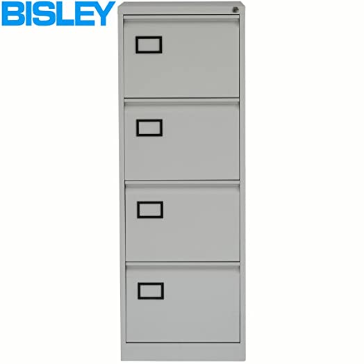 Bisley AOC4 Av4 001 1321x470x622mm Flush Front Filing Cabinet With 4  Drawers   Goose