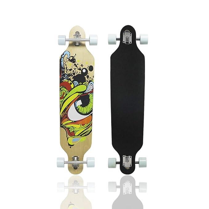 MammyGol Longboard Skateboard 42 Inch Maple Skateboard Drop Through Complete Cruiser