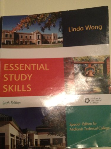 Essential Study Skills Sixth Edition Special Edition For Midlands Technical College