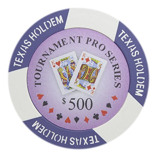 - Brybelly Tournament Pro Series Poker Chip Versatile 11.5-gram Clay Composite – Pack of 50 ($500 Purple)