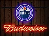 Desung Brand New 14''x10'' B udweiser Sports Team E-Oilers Neon Sign (Various Sizes) Beer Bar Pub Man Cave Glass Neon Light Lamp BW84