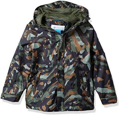 Columbia Toddler Kids Fast and Curious Rain Jacket, Surplus Green Camo, 2T (Surplus Mesh)