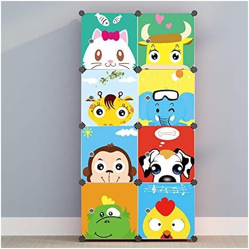 MAGINELS Children Wardrobe Kid Dresser Cute Baby Portable Closet Bedroom Armoire Clothes Hanging Storage Rack Cube…