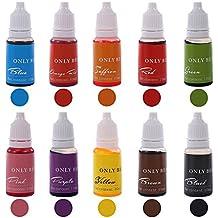 Soap Dye 10 Color Skin Safe Food Grade Liquid Colorant for DIY Bath Bomb Soap Making Coloring Set (0.34 Oz Each Bottle 10 Bottles)