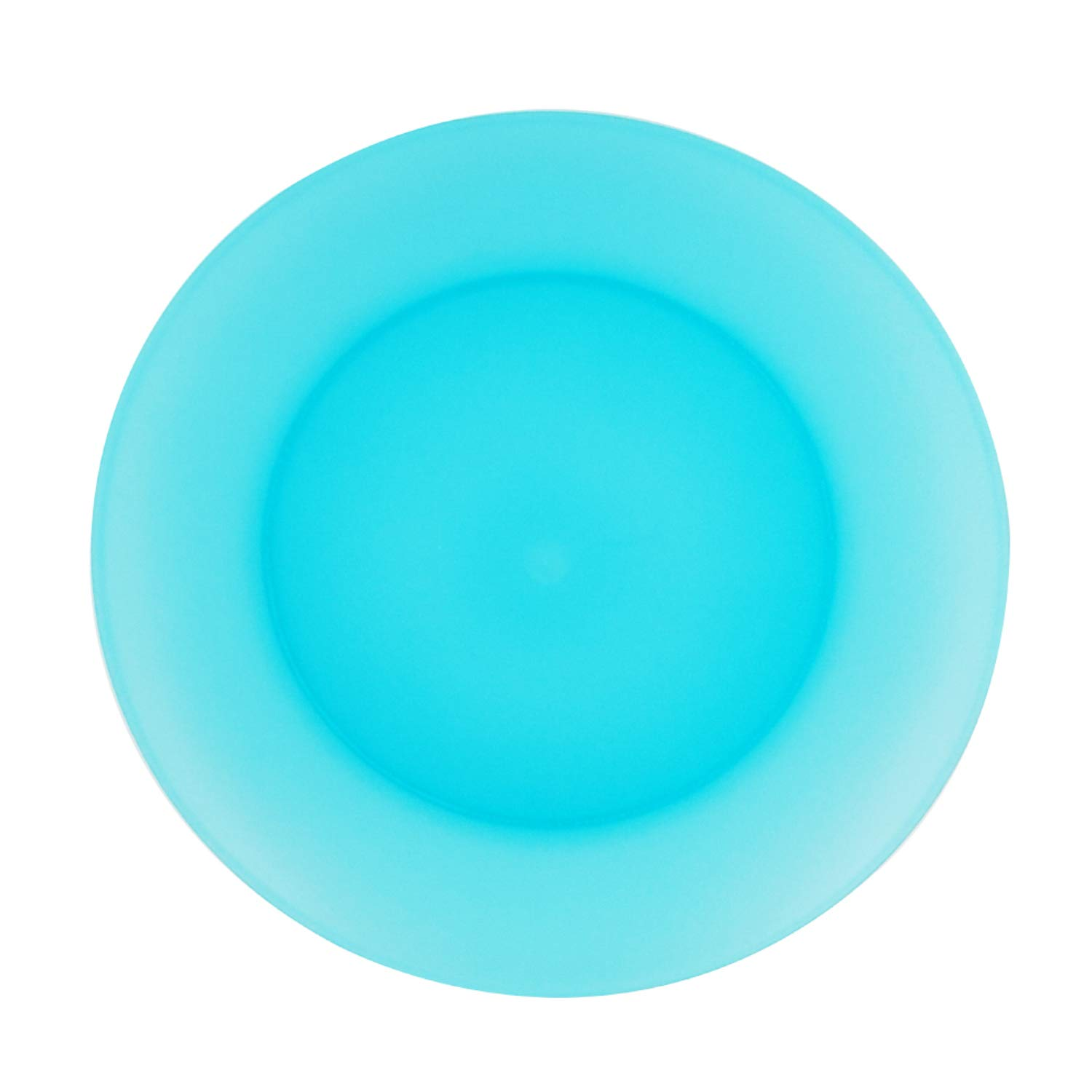 Plastic Dinner Plates Reusable BPA Free Dishwasher Safe 9.7 inch in 6 Assorted Colors Dinnerware Set of 12 By AOYITE