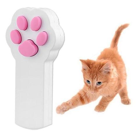 NICERIO Juguete Interactivo Gato con Luz Divertido Puntero Ejercicio Chaser Ejercicio Juguete para Gato Mascota