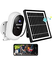 Security Camera Wireless Outdoor, Outdoor WiFi Security Camera with Solar Panel, Rechargeable Battery, Serveilance Camera System with 1080P FHD Clarity, Motion Detection, Two-way Audio, IP66 Waterproof, Life-time Free Cloud Storage(2021 Newest Version,SD Card is NOT Needed)