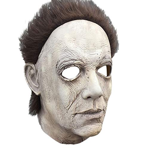 Belloc 2019 Cosplay Halloween Mask Melting Face Overhead Latex Costume Halloween Scary Mask Spoof Mask Tricky Game Toy
