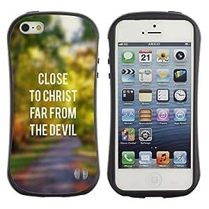 Suave TPU GEL Carcasa Funda Silicona Blando Estuche Caso de protección (para) Apple Iphone 5 / 5S / CECELL Phone case / / BIBLE Close To Christ /