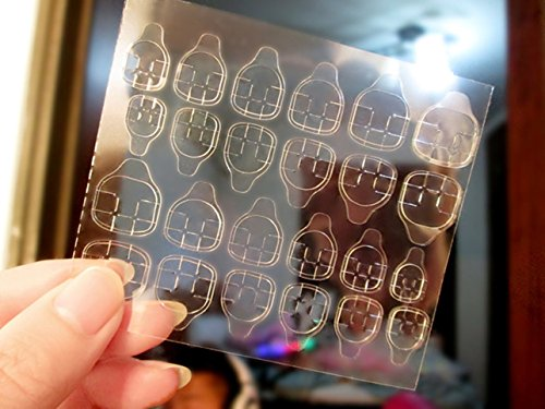 10 Sets Transparent Double Sided Adhesive Tapes Nail Art Sticker Fingernail Water Transfer Nails Wrap Paint Tattoos Stamp Plates Templates Tools Tips Kits Outstanding Popular Tool Vinyls Decals Kit