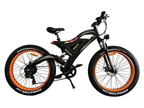 Addmotor MOTAN Electric Bike 26 Inch Fat Tire 500W Motor Power Electric Bicycle 2017 M-850 Snow Beach Mountain E-bike With 48V Lithium-Ion Battery(Black/Orange)