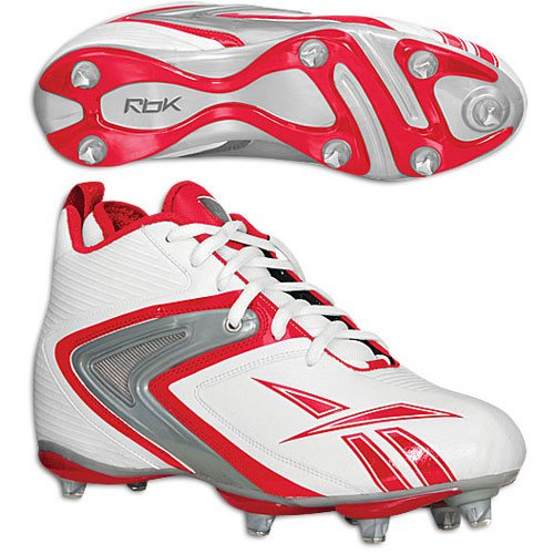 Cleats White Reebok NFL D3 Ferocious Red n4xwxYtq7