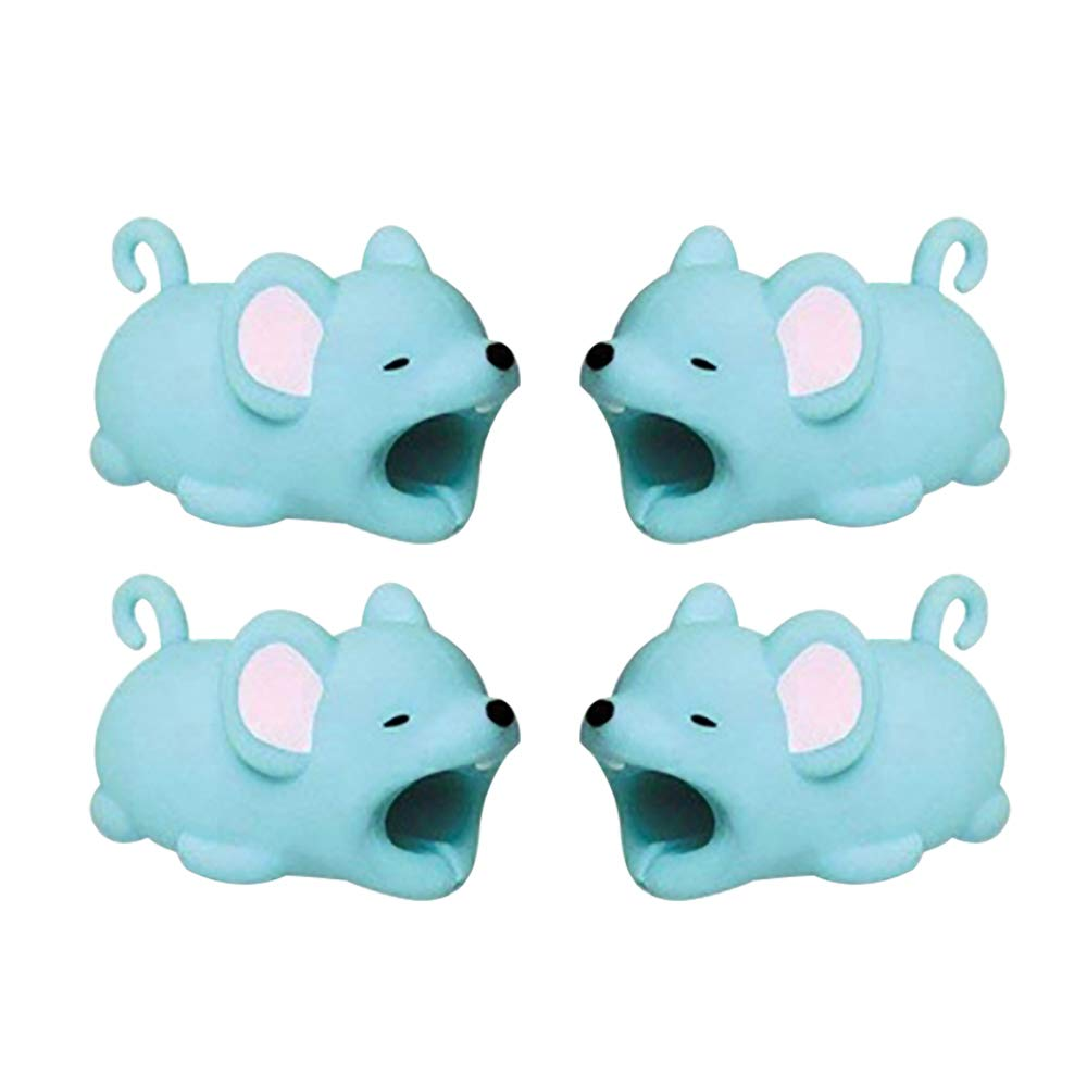 Supfox Compatible Animal Cable Bites for iPhone Cable Cord, Charge Cable Saver and Fixer Charge Cable Saver Chewers Cute Animal Bite Cable Accessory Pack (6 pcs)
