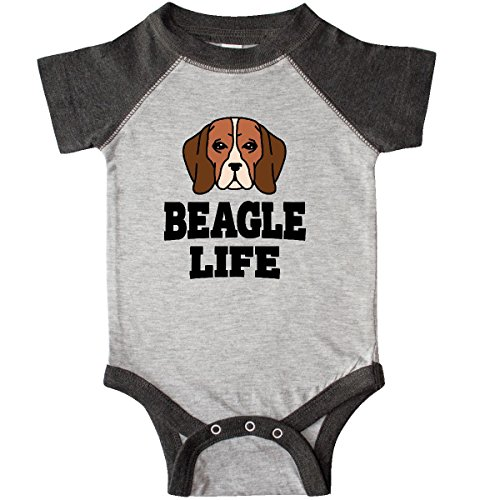 inktastic - Beagle Life Infant Creeper 12 Months Heather for sale  Delivered anywhere in USA