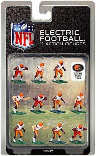 Cleveland BrownsWhite Uniform NFL Action Figure Set