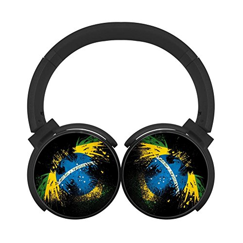 Brasil Eagle Flag Mobile Wireless Bluetooth Costume Over Ear Headphones Black]()
