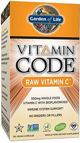 Garden of Life Vitamin C - Vitamin Code Raw C Vitamin Whole Food Supplement, Vegan, 120 Capsules