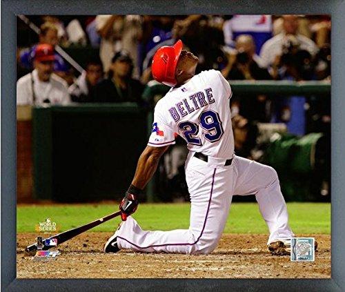 "Adrian Beltre Texas Rangers 2011 MLB World Series Action Photo (Size: 12"" x 15"") Framed"