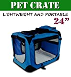 Cheap New Medium Dog Pet Puppy Portable Foldable Soft Crate Playpen Kennel House -Blue
