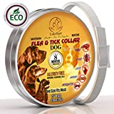 bio Pest control Collar for Dogs: Hypoallergenic Adjustable Waterproof protection from 500 species of insects. One Size Fits ALL! Enhanced with Natural Oil