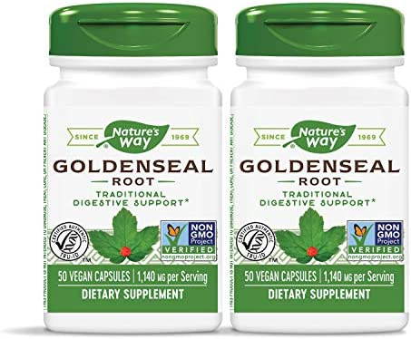 Natures Way Goldenseal Root Capsule, 570 Mg – 100 per Pack – 3 Packs per case.