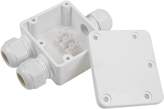 Sourcingmap - Caja de conexiones eléctrica impermeable IP68 para ...