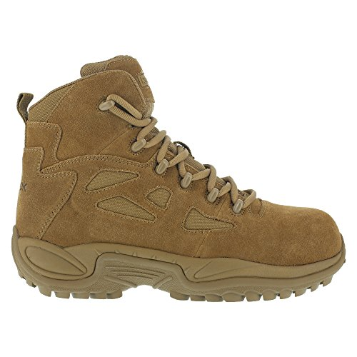 Coyote Leather - Reebok Mens Coyote Leather Tactical Boots Rapid Response 6in Stealth CT 13 M