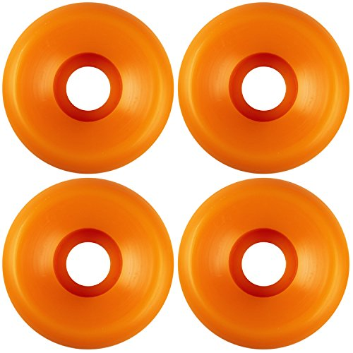USA Made Blank Skateboard Wheels 54mm Orange Conical (Set of 4)
