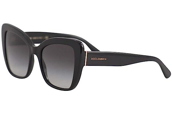 83f34a6c2ee Amazon.com  Dolce   Gabbana Women s 0DG4348 Black Grey Gradient One ...