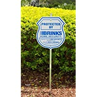 1 Authentic Home Security Yard Sign and 4 Reflective Stickers