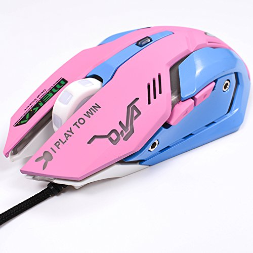 51SOiH31oVL - Gaming-Mouse-Backlit-Optical-Game-Mice-Ergonomic-USB-Wired-with-2400-DPI-and-6-Buttons-4-Shooting-for-Pro-Game-PC-Computer-Laptop-Desktop-Mac-DVA-Pink