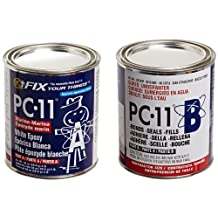 PC Products PC-11 2-Part Marine Grade and High Strength Epoxy, 4 -Pound Can, Off White