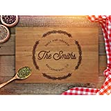 Personalized Cutting Board - Custom Anniversary Gift - Wedding Gift for Couples - Custom Engraved with Family Name - Christmas Gift - CB199 (Cherry, 7x8)