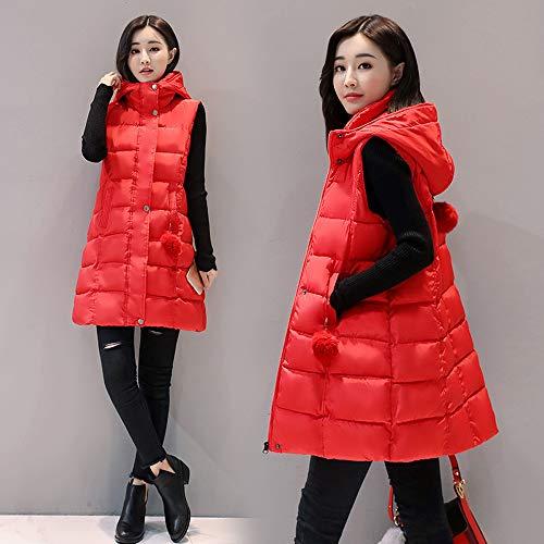 Veste Sans Vrac Manteau Coton Épais Rouge Capuche En Filles Coupe vent À Manches Kindoyo Femme q5v4qd