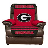 Reversible Couch Cover - College Team Sofa Slipcover Set / Furniture Protector - NCAA Officially Licensed (Recliner, University of Georgia Bulldogs (UGA))