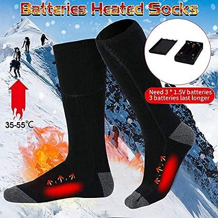 upstartech Elektrische Socken,lektrische Beheizte Warme Socken Thermal Warm Heated Socks Sneaker Socken Herren Damen schwarz Baumwolle Sportsocken f/ür Fu/ß w/ärm eregelungIdeal Fu/ßw/ärmer Grau