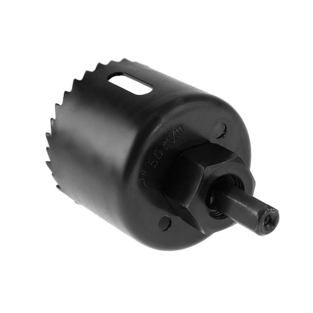 Akozon agujero vio herramienta de corte cortador de broca de taladro de acero de alto carbono de 50 mm para carpinter/ía