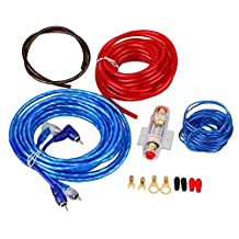 IZTOSS 1500W 8GA Car Audio Subwoofer Amplifier Installation Kit AMP Wiring Fuse Holder Wire Cable Kit