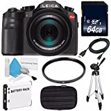 Leica V-LUX (Typ 114) Digital Camera (International Model no Warranty) + Replacement Lithium Ion Battery + Flexible Tripod with Gripping Rubber Legs + Mini HDMI Cable Bundle 40